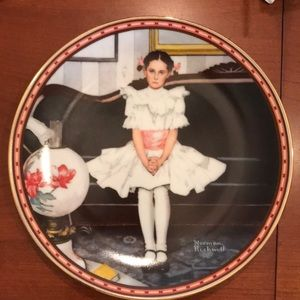 """Sitting Pretty"" Norman Rockwell plate."